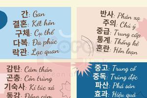 Từ vựng tiếng Hàn theo chủ đề: Từ vựng có phát âm giống tiếng Việt
