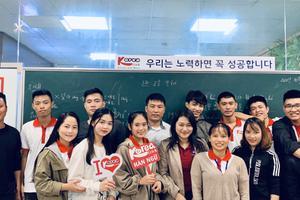 Rộn ràng khai giảng lớp tiếng Hàn Xuất khẩu lao động, du học, giao tiếp
