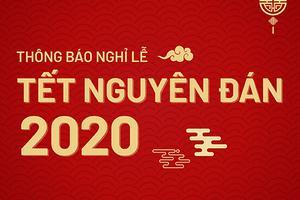 Trung tâm Ngoại Ngữ Korea Link thông báo lịch nghỉ Tết Canh Tý 2020