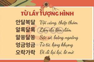 Từ vựng tiếng Hàn theo chủ đề: PHẦN 1: TỪ LÁY TƯỢNG HÌNH