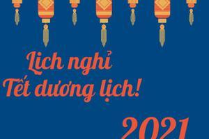 TRUNG TÂM NGOẠI NGỮ KOREA LINK THÔNG BÁO LỊCH NGHỈ TẾT DƯƠNG LỊCH 2021