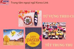 Từ vựng tiếng Hàn theo chủ đề: Tết trung thu Hàn Quốc