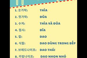 Từ vựng tiếng Hàn theo chủ đề: Dụng cụ nhà bếp