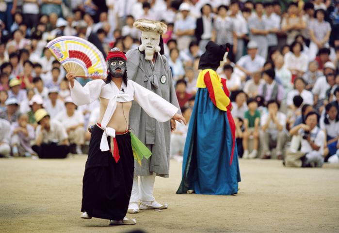 Độc đáo nét văn hóa múa mặt nạ ở Hàn Quốc.